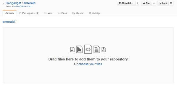 github drag and drop files to upload
