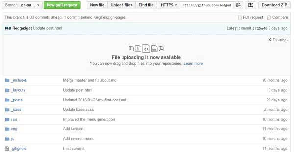 Upload files and folder to github