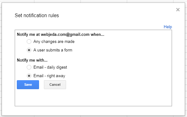 Customize Google Forms