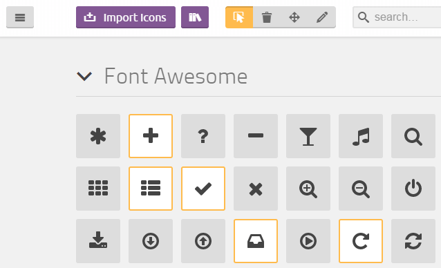 IcoMoon Fontawesome customize